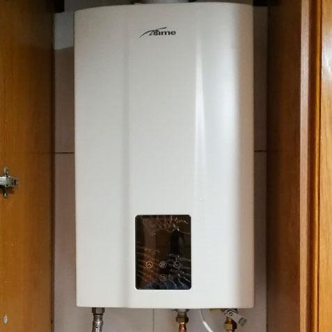 Instalación calentador casa particular